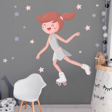 Skater girl - Vinyles décoratifs pour enfants