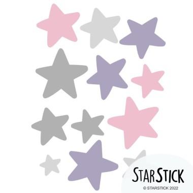 Extra Pack - Estrellas patinadora maillot gris