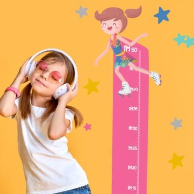 Vinil mesurador infantil - Patinador