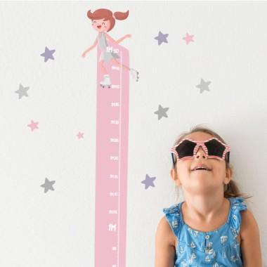 Vinilo medidor infantil - Patinadora