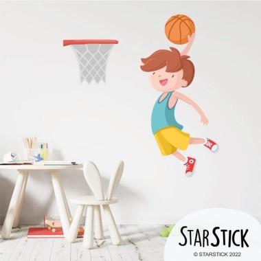 Nen jugant a bàsquet - Vinils decoratius infantils