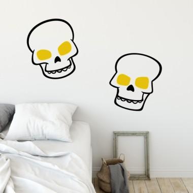 Skulls - Stickers muraux pour ados