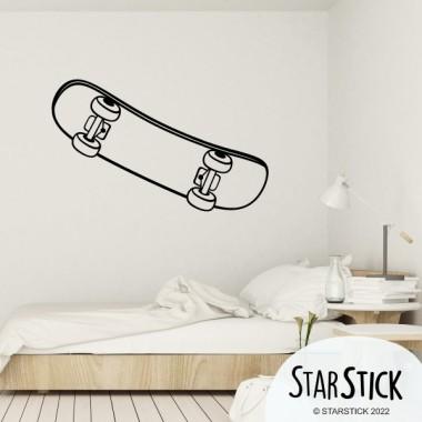 Skateboard - Stickers muraux. Vinyle autocollants