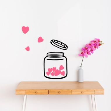 Le pot d'amour - Stickers muraux