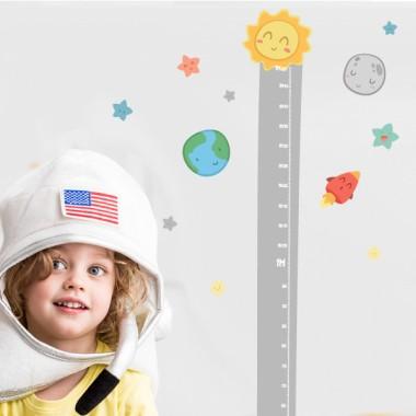 Espacio infantil - Sistema solar - Vinilo medidor
