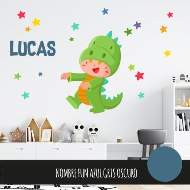 Enfant dinosaure - Stickers muraux pour bébé