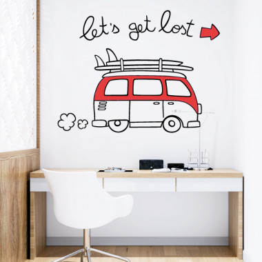 Let's get lost - Vinilos adhesivos de pared