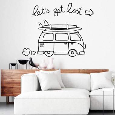 Let's get lost - Stickers muraux
