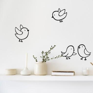 Petits oiseaux - Stickers muraux