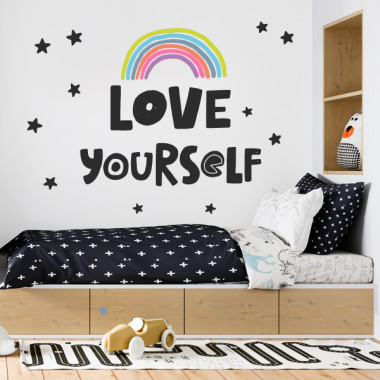 Love yourself - Vinilos adhesivos de pared