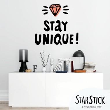 Stay Unique - Stickers muraux