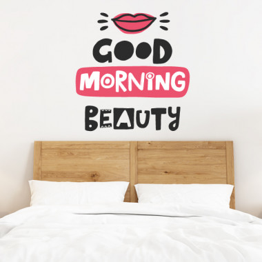 Good morning beauty - Stickers muraux