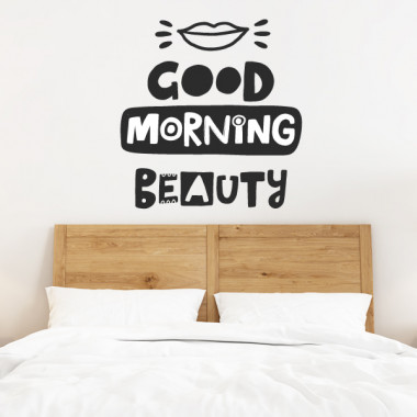 Good morning beauty - Vinilos adhesivos de pared