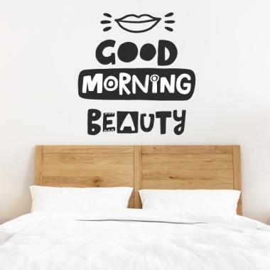Good morning beauty - Vinilos adhesivos de pared Vinilos Juveniles Vinilo adhesivo para decorar paredes de habitaciones, salones, recibidores... Cambia y redecora el estilo de tu hogar con los adhesivos de StarStick; diseños llenos de motivación y originalidad. Medidas aproximadas del vinilo montado (ancho x alto) Básico:39x43 cm Pequeño:53x58 cm Mediano:69x75 cm Grande:98x106cm Gigante: 123x133cm    vinilos infantiles y bebé Starstick