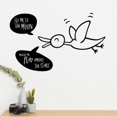 Fly me to the moon - Stickers muraux en vinyle