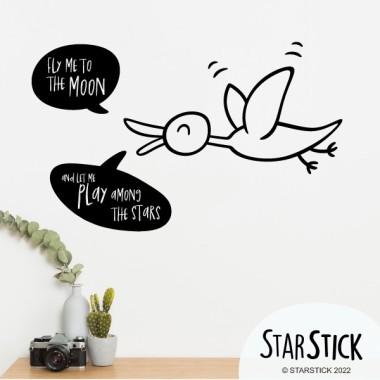 Fly me to the moon - Vinils adhesius de paret
