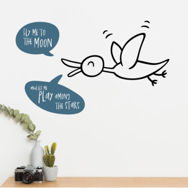 Fly me to the moon - Stickers muraux