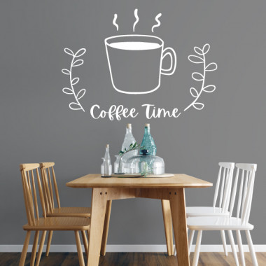 Coffee time - Stickers muraux