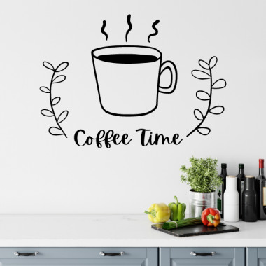 Coffee time - Vinilos adhesivos de pared