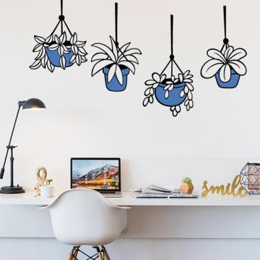 Plantas con maceta - Vinilos decorativos casa