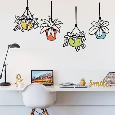 Plantes en pot - Vinyles décoratifs pour la maison