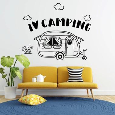 I love camping - Vinils decoratius casa