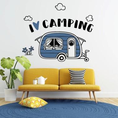 J'aime le camping - Vinyle décoratif pour la maison