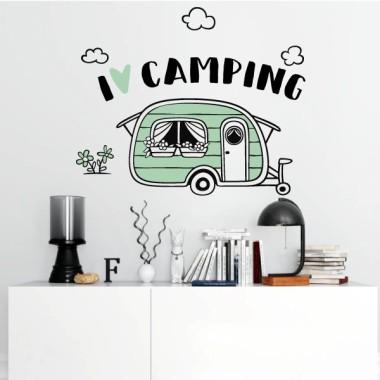 I love camping - Vinilos decorativos casa Vinilos casa We love camping. ¿Y vosotros? Monísima caravana de vinilo para decorar cualquier rinconcito de vuestro hogar. Una auténtica cucada de vinilo adhesivo para dar un toque chic en paredes, muebles o cualquier superficie lisa. Medidas aproximadas del vinilo montado (ancho x alto) Básico: 45x37cm Pequeño:66x55 cm Mediano:85x70 m Grande:125x100 cm Gigante: 120x65 cm vinilos infantiles y bebé Starstick