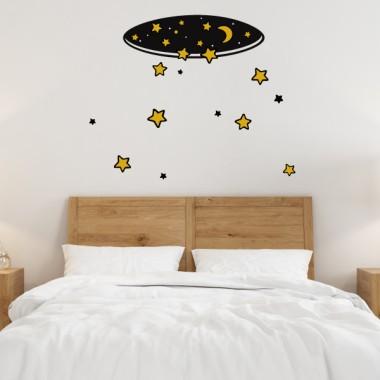 Pluie d'étoiles - Stickers muraux