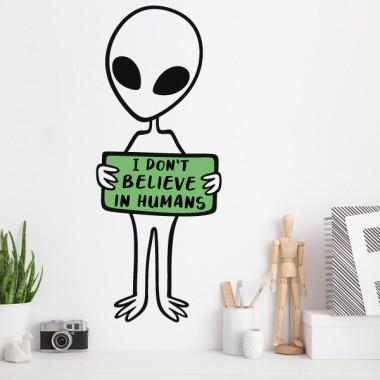 Je ne crois pas aux humains - Stickers muraux jeunesse