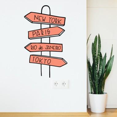 Affiche villes - Stickers muraux décoratifs