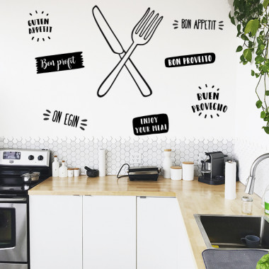 Ganivet i forquilla - Vinils decoratius de paret