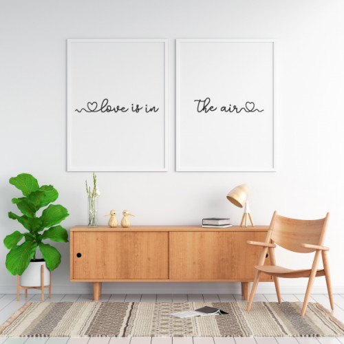 Pack de 2 làmines decoratives - Love is in the air
