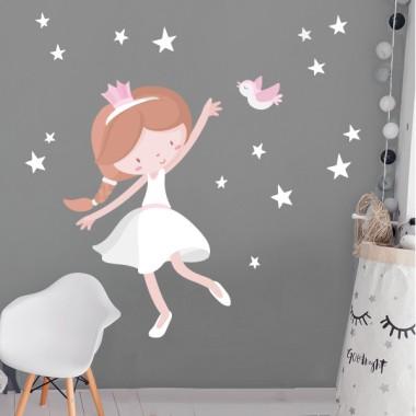 Niña princesa - Vinilo infantil