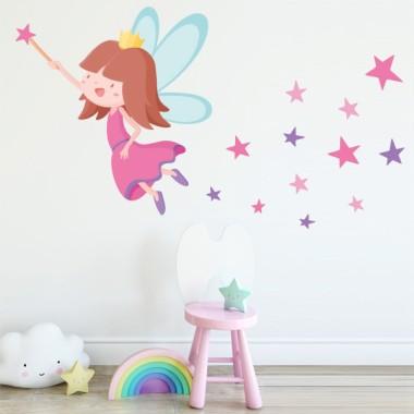 Vinil nenes - Fada amb estrelles