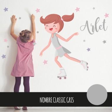 Nena patinadora - Vinils decoratius infantils