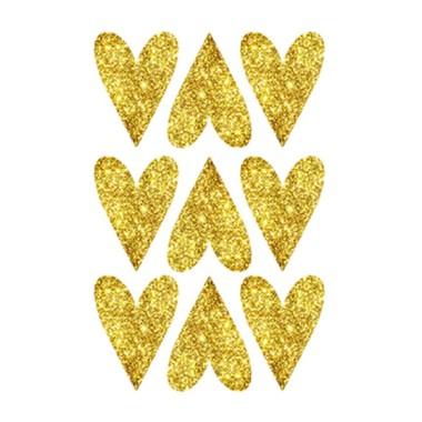 Grands  coeurs de paillettes d'argent - Stickers décoratifs paillettes