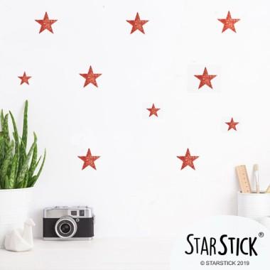 Étoiles de paillettes cuivre - Stickers décoratifs paillettes