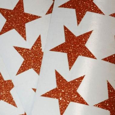 Estrellas de purpurina de color cobre - Vinilos decorativos purpurina