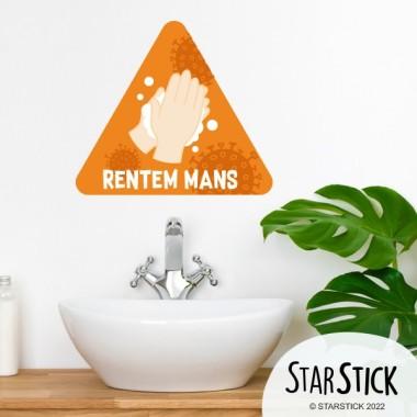 Lave toi les mains - Stickers de signalisation adhésifs