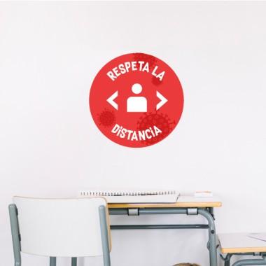 Respecte la distance - Stickers de signalisation adhésifs