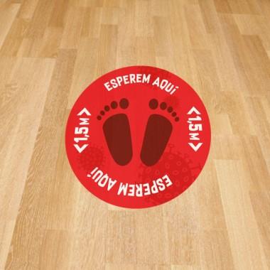 Attends ici - Stickers de signalisation adhésifs