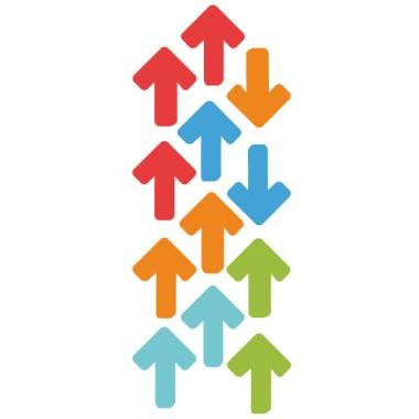 Flèches de signalisation - Grand taille - Stickers de signalisation adhésifs