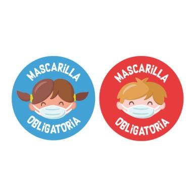 Niños - Mascarilla obligatoria - Cartel señalización