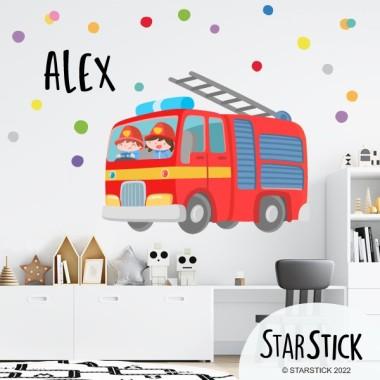 Camión de bomberos - Vinilos infantiles