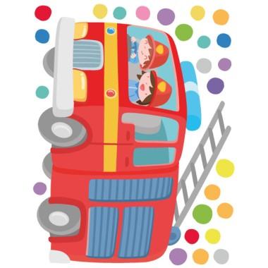 Camión de bomberos - Vinilos infantiles Vinilos infantiles Niño Decora la habitación de tus hijos con este espectacular vinilo de bomberos. Un maravilloso camión con escalera, un bombero y una bombera en plena acción y confeti de colores. Un completo pack para decorar paredes de habitaciones infantiles, espacios de juego, colegios… Pegatinas adhesivas de gran calidad y diseños exclusivos de StarStick.  Medidas aproximadas del vinilo infantil montado (ancho x alto) Básico: 70x40cm Pequeño:115x70 cm Mediano:140x100 cm Grande:185x125cm Gigante:250x150 cm  AÑADE UN NOMBRE AL VINILO DESDE 9,99€ vinilos infantiles y bebé Starstick