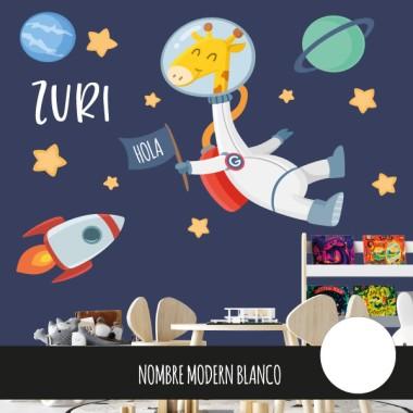 Vinilo para bebé Jirafa astronauta - Vinilos infantiles