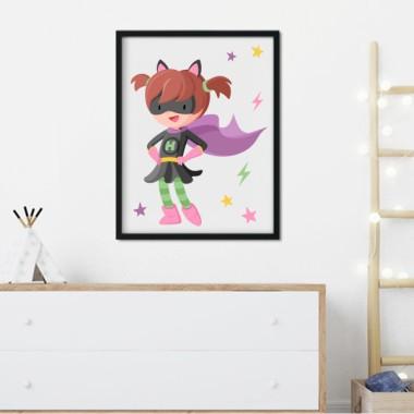 Làmina decorativa infantil - Superheroïna