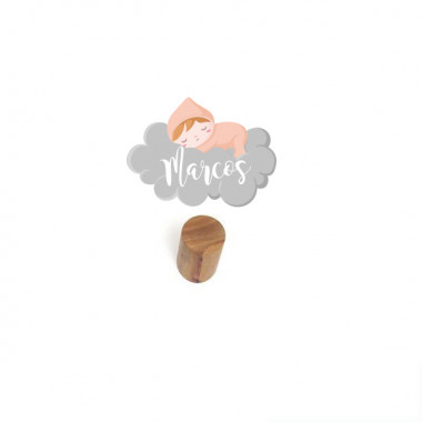 Penjador infantil personalitzat - Nadó dormint al núvol