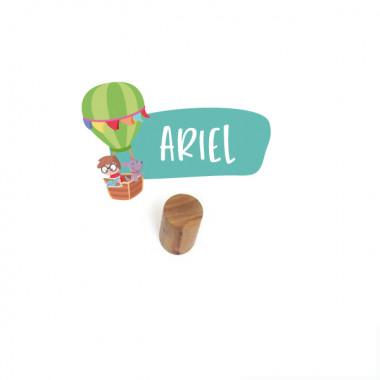 Penjador infantil personalitzat - Aventura amb globus
